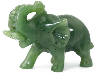 Canadian Jade Elephant Figurine (multiple sizes available)