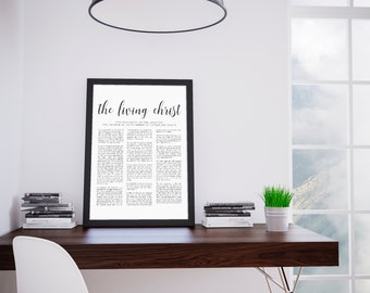 The Living Christ | LDS Printable | Comes in 8x10, 11x14 and 16x20 Printable | Living Christ | Mormon Art | Family Proclamation | Testimony
