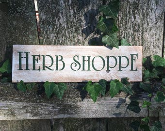 Herb Shoppe Rustic Sign