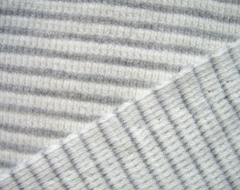Organic Cotton Fabric Thermal Waffle Weave Ribbed Striped Knit Fabric, By The Yard, Sustainable Fabric