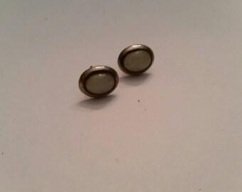 Vintage Sterling Silver Moonstone Earrings 925 Dangle