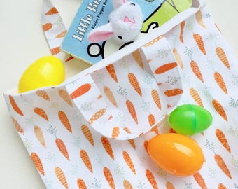Easter Tote Carrots Easter Basket Easter Tote Bag Veggies Kids Tote Bag Reusable Gift Bag Easter Bunny Gift Ideas for Kids Shop for a Cause