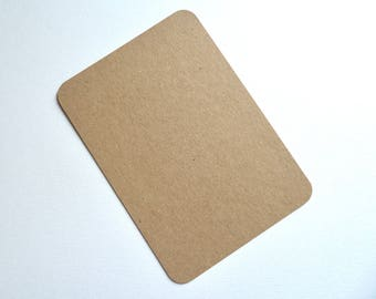 Pack of  100 A6 recycled kraft postcards rounded round corners blank diy post cards invitations rustic wedding C6 tags