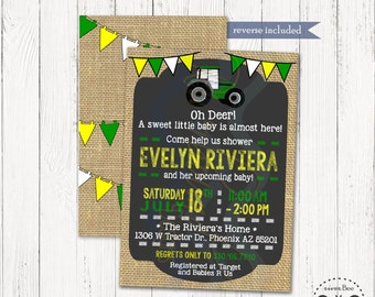 Tractor Baby Shower Invitation Printable