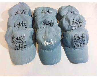 Bride Tribe Hats | Custom Hats | Bridesmaid Hats