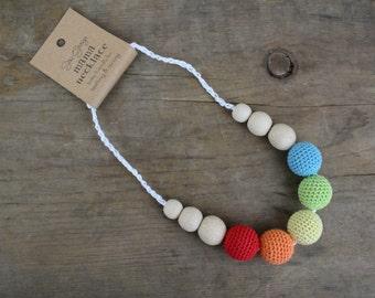 Mama Nursing Necklace - Light Rainbow