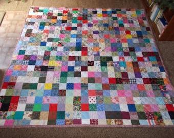 Scrappy Patchwork Quilt - King Size Quilt - 50% DEPOSIT