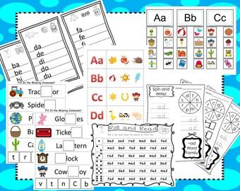 Preschool Phonics Curriculum Download. Preschool-Kindergarten. Worksheets and Activities in PDF files.