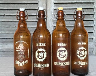 French Bière Bottles x4