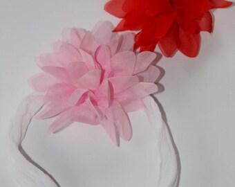 Tulle Flower Clips