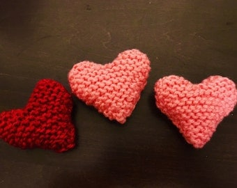 Small 3D soft knit heart