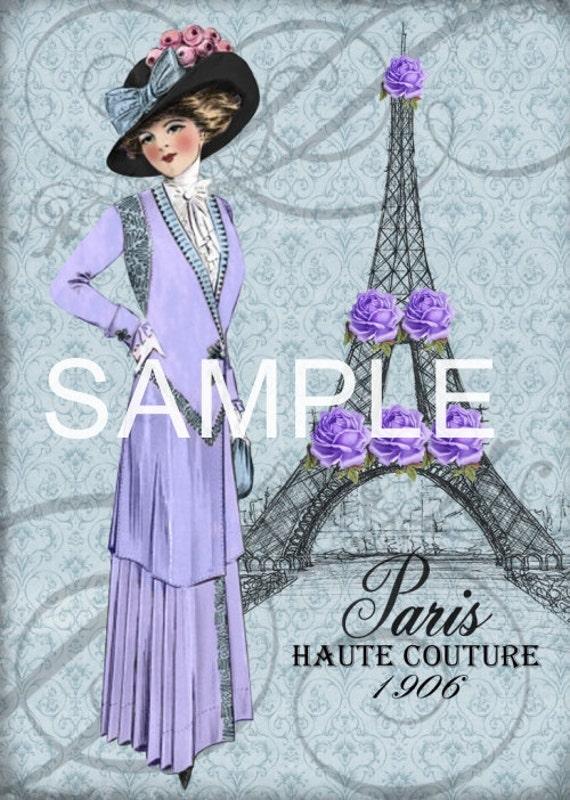 Discount lot of 5 fabric art quilt blocks paris haute for Coupon haute couture