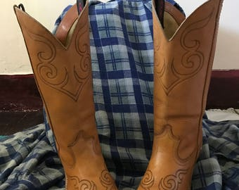 Vintage Leather Cowgirl Boots size 6 1 2m