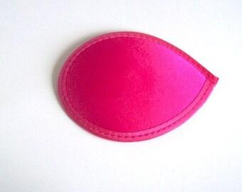 """pink hat base pink 5"""" (13cm) satin cerise pink teardrop fascinator base New"""