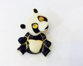 Vintage Bobble Head Panda Pin