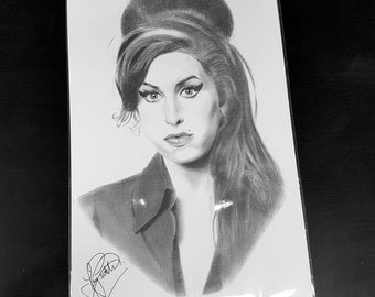 Amy Winehouse pencil drawing