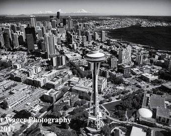 Beautiful Seattle Washington Aerial - Print Only