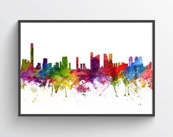Tel Aviv Skyline Poster, Tel Aviv Cityscape, Tel Aviv Print, Tel Aviv Wall Art, Tel AvivDecor, Home Decor, Gift Idea 06
