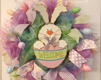 Last one left! Easter wreath, Spring wreath, Bunny wreath, Easter bunny wreath, Easter decor, Rabbit wreath, Easter bunny,