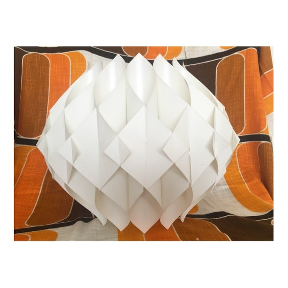 Danish Butterfly folding lamp shade 60s Space Age