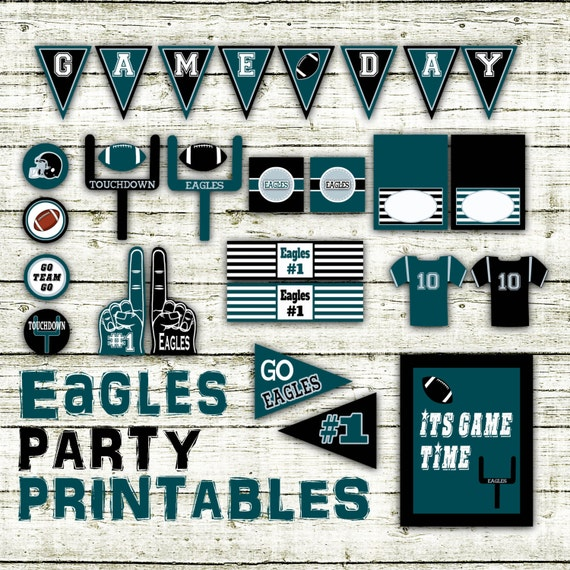 Eagles Football Party Printables And Decorations Printable