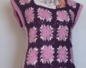 Vest of crochet