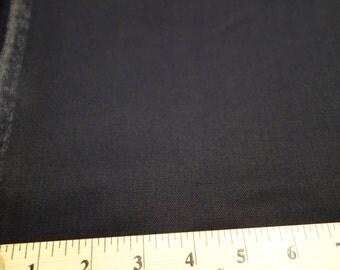 100% Wool Gabardine Fabric - Navy, 2 Yards