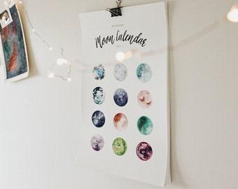 2017 Printable Moon Calendar
