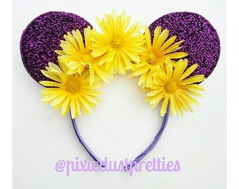 Rapunzel Ears, tangked, rapunzel, Minnie mouse, mouse ears, lost princess, Minnie, purple mouse ears