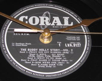 "Buddy Holly The buddy holly story vol.2  vinyl 12"" Lp / album  record clock"