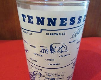 Vintage Frosted Tennessee Glass Tumbler