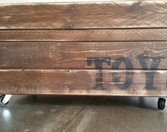 Rolling 'TOYS' Crate