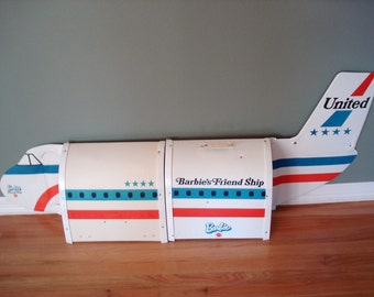 Barbie's Friend Ship 1970's Barbie's United Airline Airplane