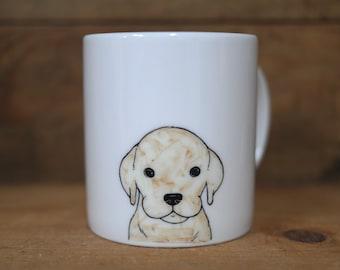 Hand painted animal mug cup - Cute mug cup - Golden Retriever dog mug cup