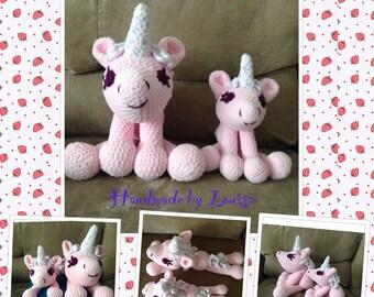 """Pink fluffy unicorn """"Una"""""""