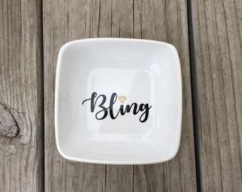 Bling Ring Dish, Ring Dish, Ring holder, Jewelry dish, Bridal gift, Engagement gift, Custom ring dish