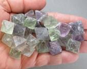 Rainbow Fluorite Octahedron - Fairy Stone, Healing Crystals & Stones, Meditation Gifts, Raw Fluorite Crystal, Aura Healing T449