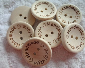 Extra Large Handmade With Love Buttons