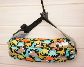 Baby Carrier Cover (Reversible) Dino-mites Retro/Solid Black (Dino-Mites) Tula/Ergo/Kinderpack/Beco/Boba