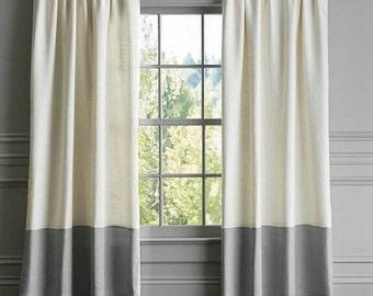 100 Pure European Linen Curtains Each Panel 52inches