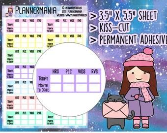 JW Planner Stickers, Service Time Tracker - 070