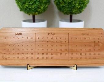 Cherry Wood Calendar