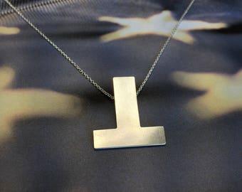Resist Anti-Trump Necklace - Deluxe - Pendant - Charm - Anti-Hate Anti-Racism Political Jewelry - Falsum - Upside Down T - Progressive Left