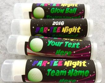 Golf Tournament Lip Balm Favor / Glow Ball Tournament / Golf Party / Golf Team / Golf Chapstick / Golf Team Party / Golf Award / Favors