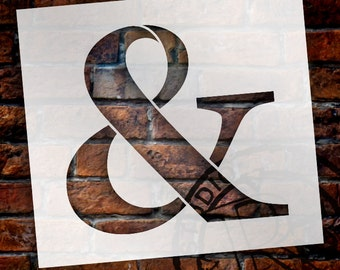 Ampersand -Classic Serif Letter Stencil - Select Size - STCL1711 - by StudioR12