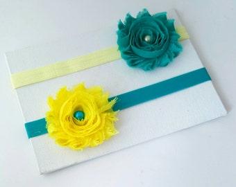 Teal & Yellow Newborn Gift Set