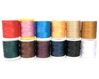 Silk thread - Basic Color 0.5mm Threads, Basic Color(12 color available),Produced by KOREA, Leather craft tools -MLT-P0000BWB