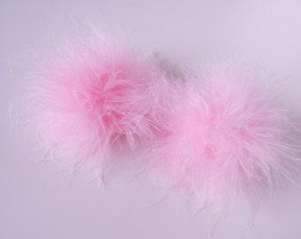 Fuzzy hair clips
