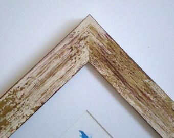 Photo frame 11x14 frame Black frame distressed frame rustic frame  picture frame Wood frame 28x36cm Wood Crafts RusticFrameShop