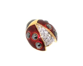 Ladybird Brooch by Bill Skinner Ladybug Pin
